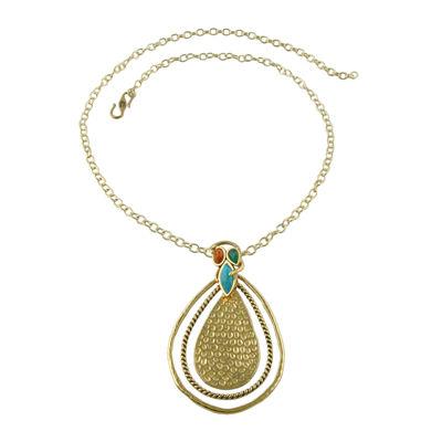 Art Smith by BARSE Genuine Multicolor Gemstone Necklace