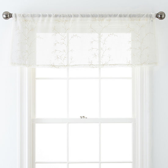JCPenney Home™ Ingals Rod-Pocket Sheer Tailored Valance