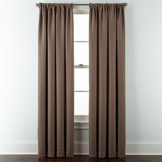 JCPenney Home Marsell Light-Filtering Rod-Pocket Single Curtain Panel