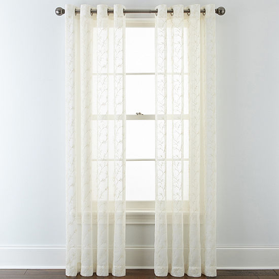 JCPenney Home Grommet-Top Sheer Curtain Panel
