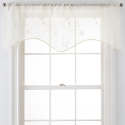 JCPenney Home™ Malta Rod-Pocket Scalloped Valance