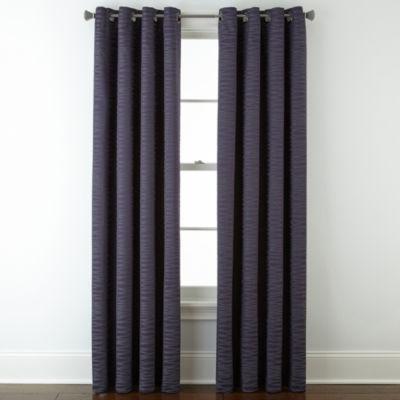 Studio™ Arden Wave Room-Darkening Grommet-Top Curtain Panel