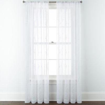Liz Claiborne® Whitley Rod-Pocket Sheer Panel