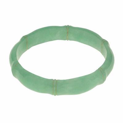 Genuine Jade Bamboo Bangle Bracelet
