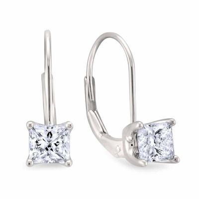 1 CT. T.W. Genuine White Diamond 14K Gold Drop Earrings