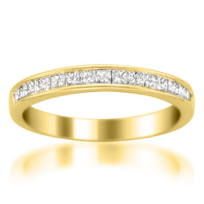 Womens 3 Mm 1/2 CT. T.W. White Diamond 14K Gold Wedding Band
