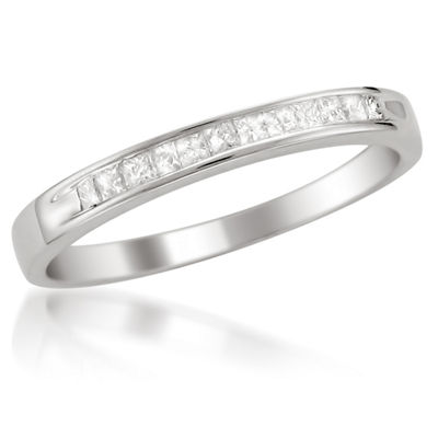 Womens 2 Mm 1/4 CT. T.W. White Diamond 14K Gold Wedding Band