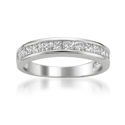 Womens 1 CT. T.W. White Diamond Platinum Wedding Band