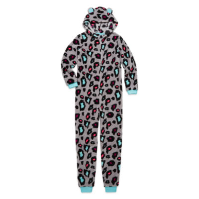 Total Girl Leopard Fleece Blanket Sleeper - Big Kid & Plus