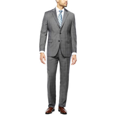 jcpenney.com | Stafford® 100% Wool Super 100s Gray Glen Check Suit Separates - Classic Fit