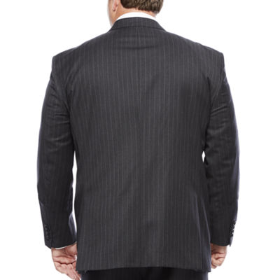 Stafford® Charcoal Chalk Stripe Suit Jacket - Big & Tall