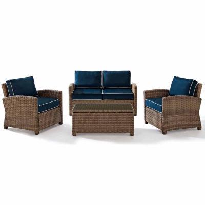 Crosley Bradenton Wicker 4-pc. Patio Lounge Set
