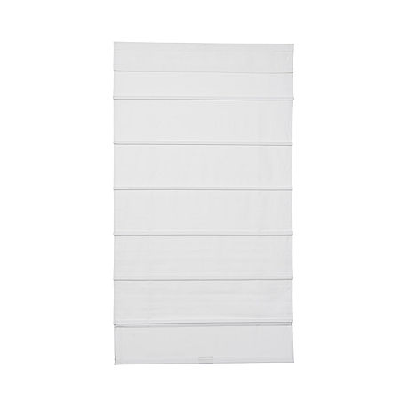 JCPenney Home Cordless Cotton Classic Roman Shade, One Size , White