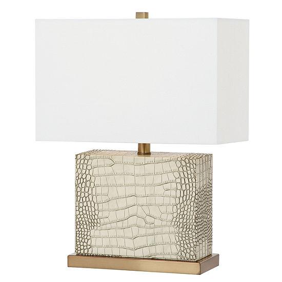 Saurian Faux Alligator Table Lamp