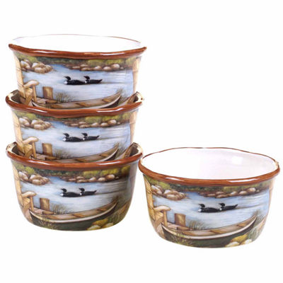Certified International Lake Life 4-pc. Ice Cream Bowl