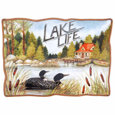 Certified International Lake Life Serving Platter