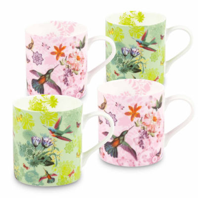 Konitz Flower Birds, Set of 4, Coffee Mugs
