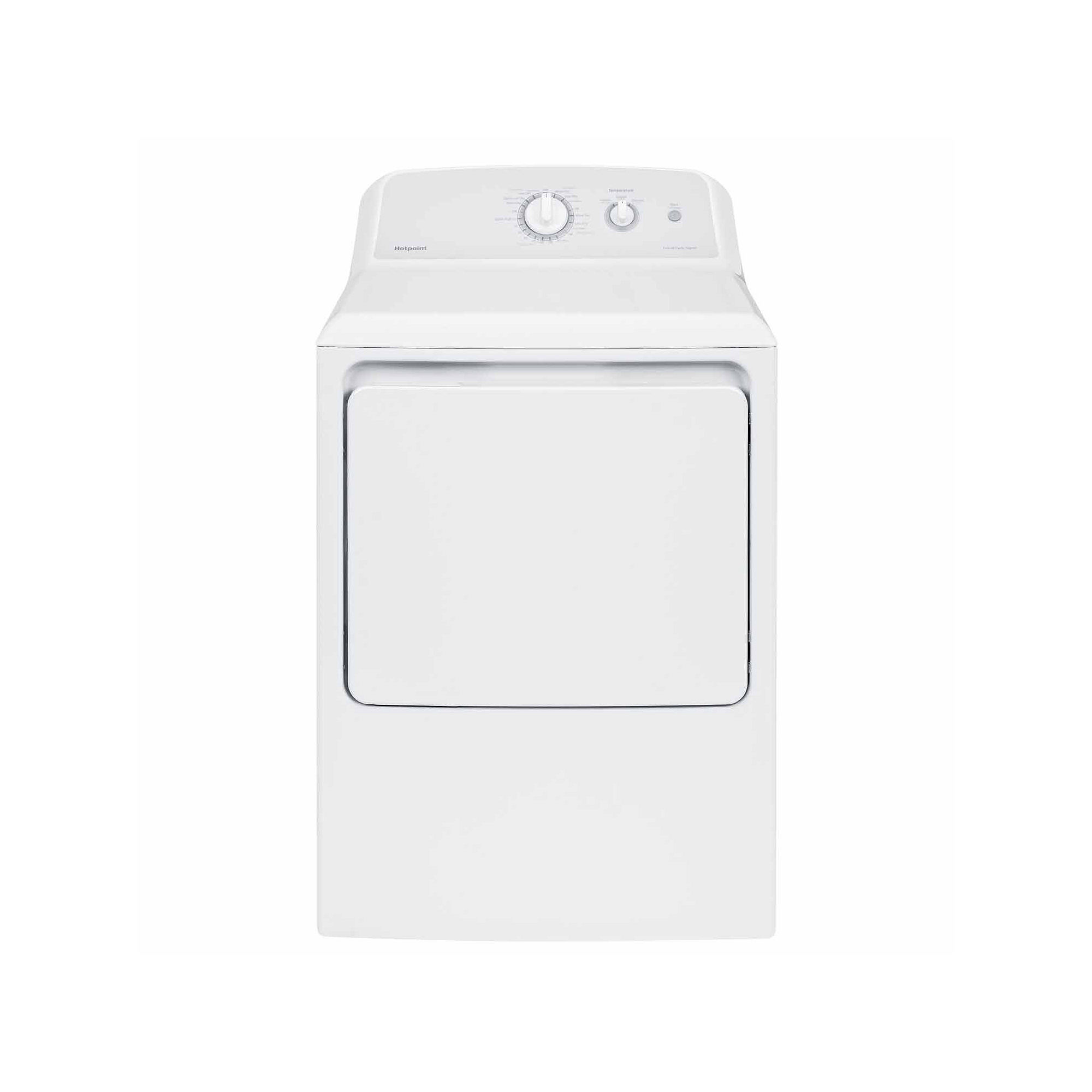 Hotpoint 6.2 cu. ft. Capacity Aluminized Alloy Electric Dryer - HTX24EASKWS