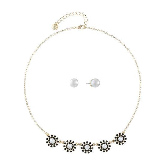 Monet Jewelry 2-pc. Black Simulated Pearl Jewelry Set