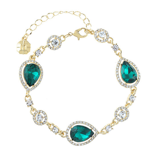 Monet Jewelry Green Chain Bracelet
