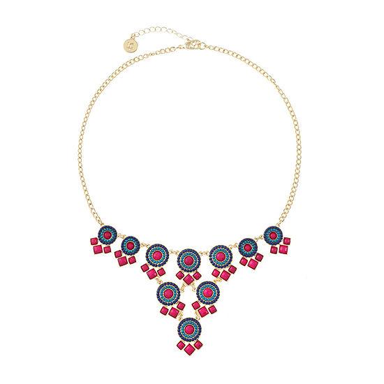 Liz Claiborne Multi Color 18 Inch Cable Statement Necklace