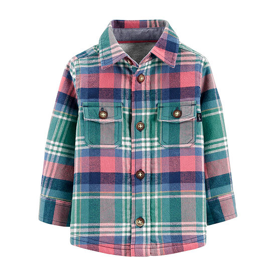 Oshkosh Boys Long Sleeve Button-Front Shirt Baby