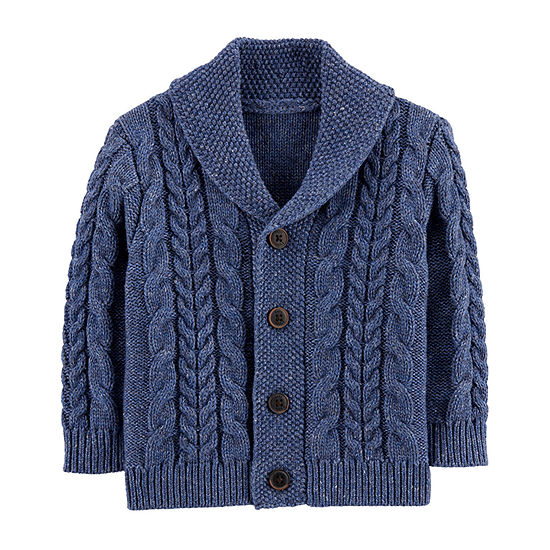 Oshkosh Boys V Neck Long Sleeve Cardigan - Baby