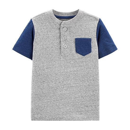 Oshkosh Short Sleeve Henley Shirt - Toddler Boys