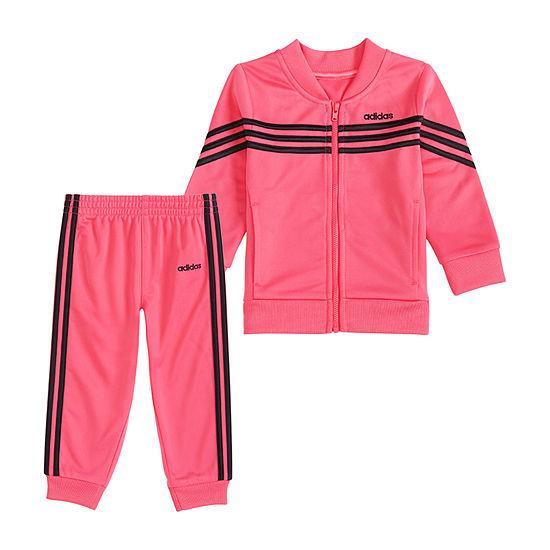 adidas 2-pc. Logo Track Suit Toddler Girls