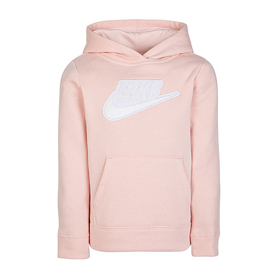 Nike Little Girls Fitted Sleeve Hoodie