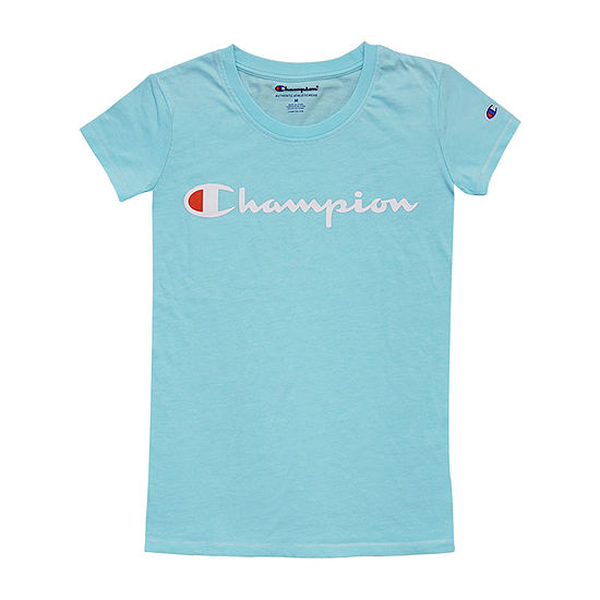 Champion Girls Crew Neck Short Sleeve Graphic T-Shirt - Big Kid