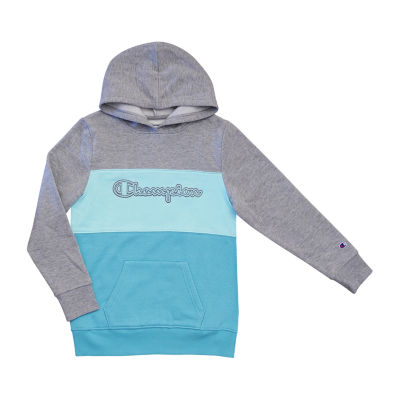Champion Colorblocked Girls Raglan Sleeve Hoodie-Big Kid