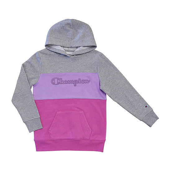 Champion Colorblocked Hoodie Girls Raglan Sleeve Hoodie-Big Kid