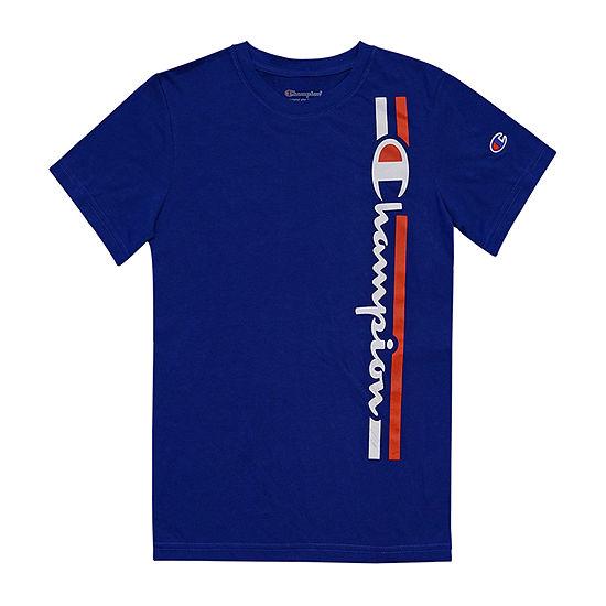 Champion Boys Crew Neck Short Sleeve Graphic T-Shirt-Toddler