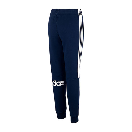 adidas Boys Cotton Fleece Mid Rise Tapered Jogger Pant - Big Kid