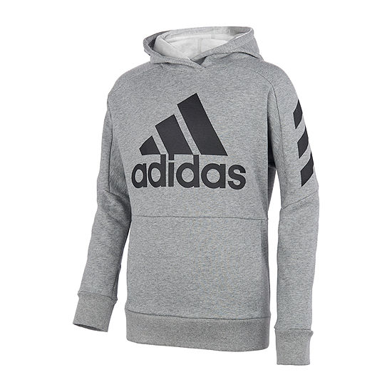 adidas Cotton Fleece Boys Hoodie-Big Kid