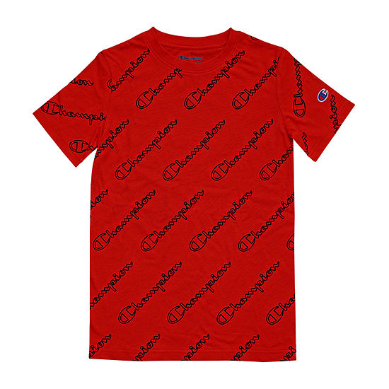 Champion Boys Crew Neck Short Sleeve Graphic T-Shirt - Big Kid