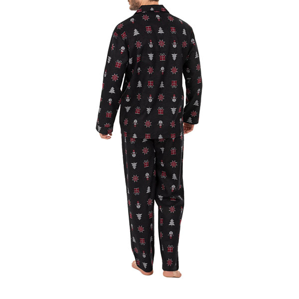 Wembley Snowman And Trees Couples Mens 2-pc. Pant Pajama Set