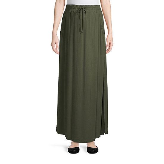 Artisan Drawstring Maxi Skirt Maternity
