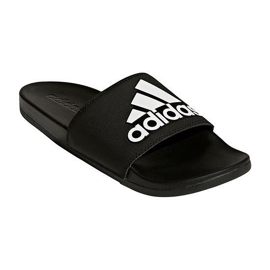 adidas Mens Adilette Cloudfoam + Logo Slide Sandals