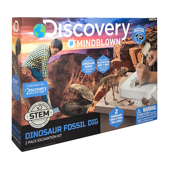 Discovery MindBlown Dinosaur Fossil Dig: 2 Pack Excavation Kit