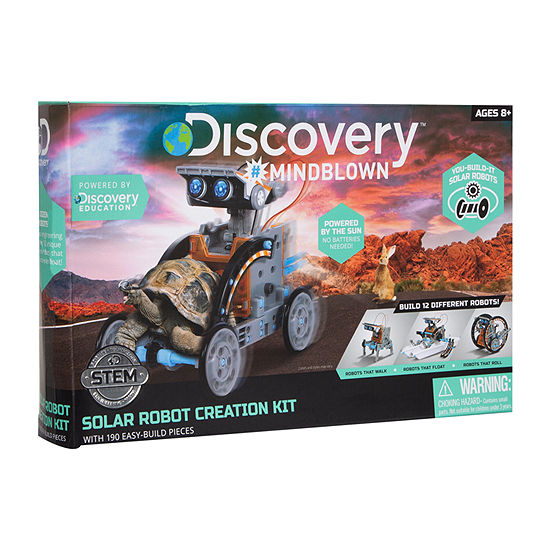 Discovery Kids Mindblown STEM 12-in-1 Solar Robot Creation 190-Piece Kit with Working Solar Powered Motorized Engine and Gears
