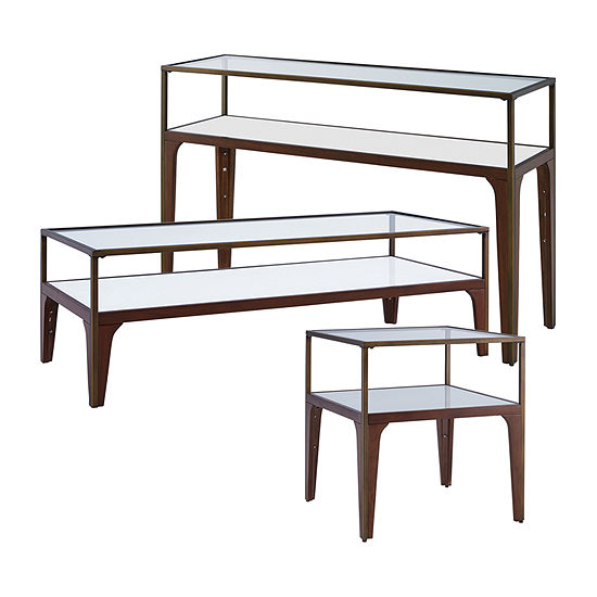 Fayette Metal and Glass Console Table
