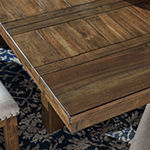Signature Design by Ashley Kavarna Rectangular Wood-Top Dining Table