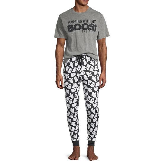 Halloween Family Mens Pant Pajama Set 2-pc. Short Sleeve