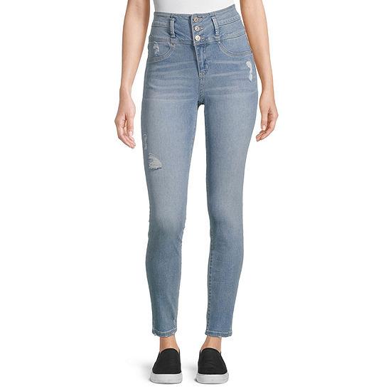 Rewash - Juniors Womens High Rise Skinny Fit Jean