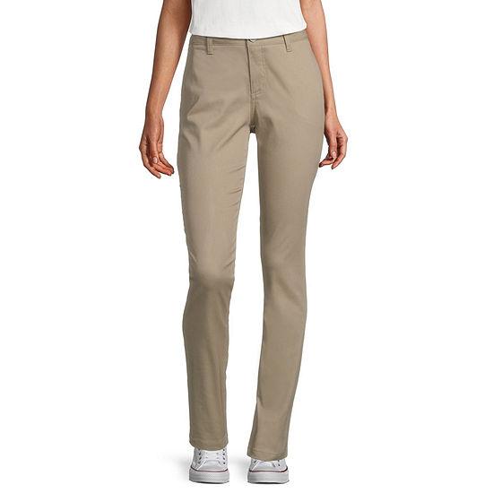Dickies-Juniors Womens Mid Rise Skinny Pull-On Pants