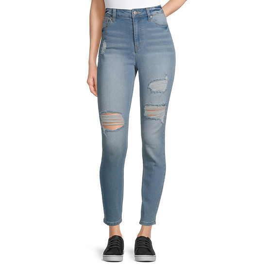 Blue Spice - Juniors Table Womens High Rise Skinny Fit Jean