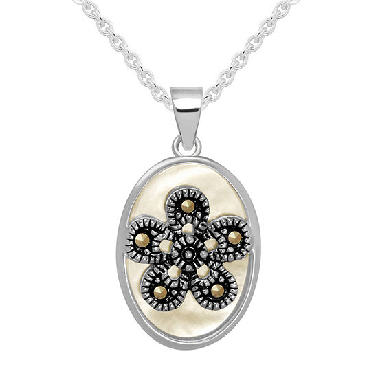 Sparkle Allure Pure Silver Over Brass 18 Inch Cable Pendant Necklace