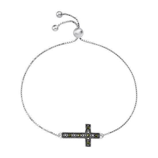 Sparkle Allure Crystal 8 Inch Box Cross Bolo Bracelet
